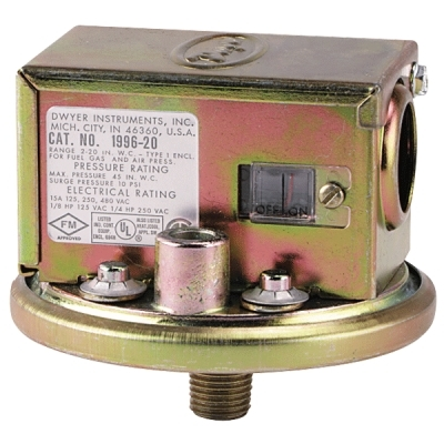 Series 1996 Gas Pressure Switch
