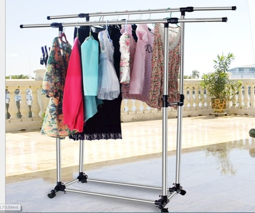 double garment rail yns s 003 in such as the pearl. Black Bedroom Furniture Sets. Home Design Ideas