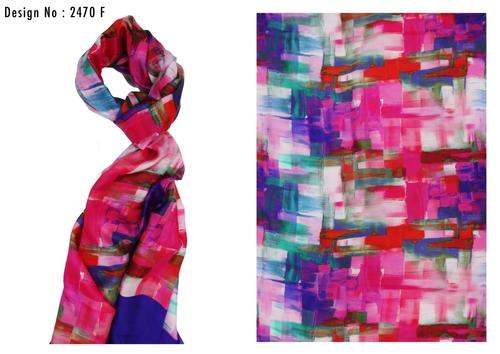 Digital Printed Silk Scarves in  New Area