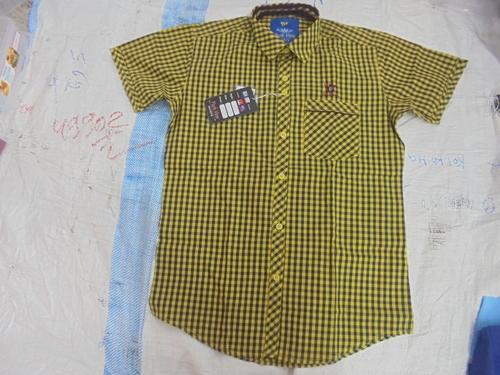 Check Design Half Sleeve Shirt