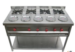 Four Burner Commercial Gas Stove in  British Indian Street