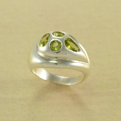 Peridot Drop Ring