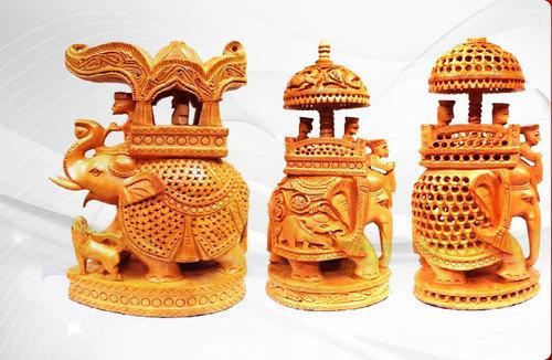 Wooden Elephant Handicrafts