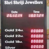 Jewellery Rate Display Board