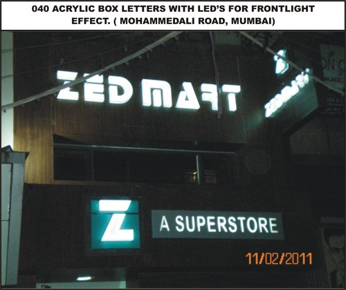 040 Acrylic Box Letter with LED in  Fort