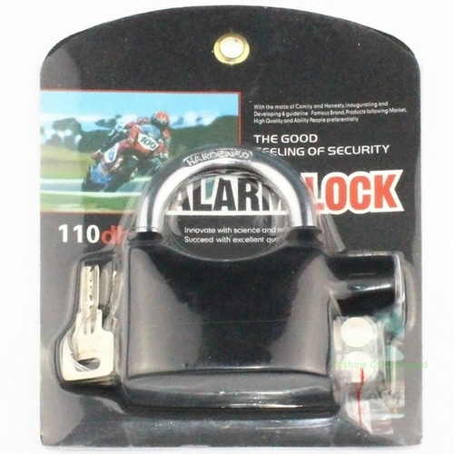Alarm Padlock Electronic Alarm Lock For Door Bicycle And Motorbike