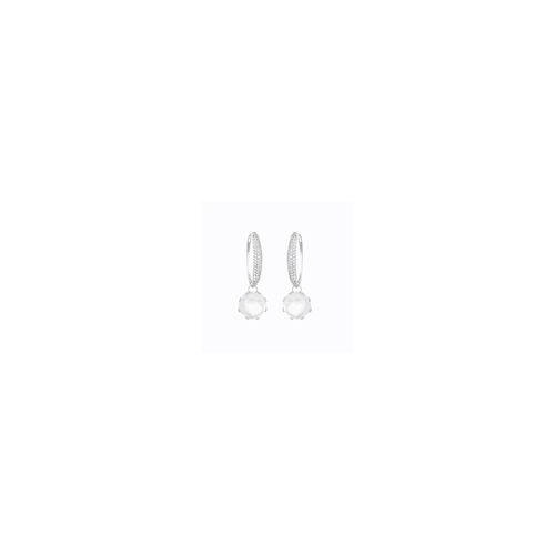 Gold Topaz Hoop Earrings