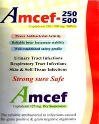 Amcef Cephalexin -250-500 mg