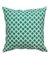 Green Printed Pillow Covers