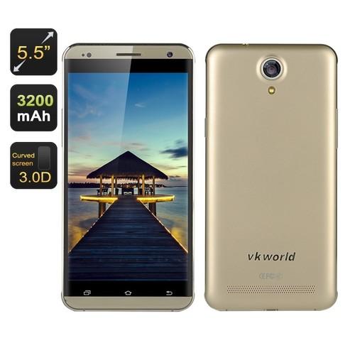 Gold 5.5 Inch HD Screen Smartphone