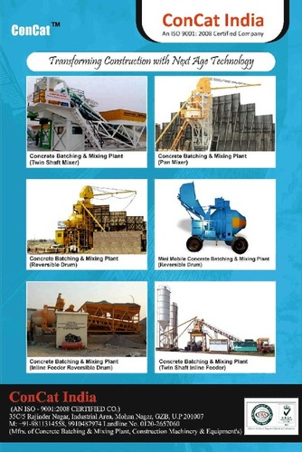 Concrete Batching And Mixing Plant