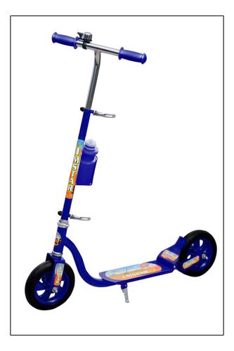 Blue Plastic Kick Scooter
