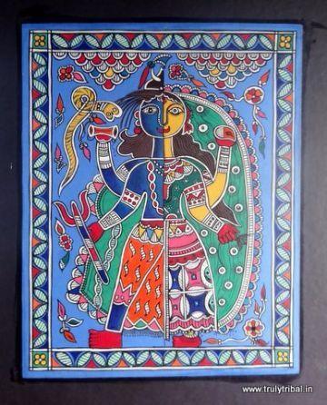 Madhubani Painting on Canvas
