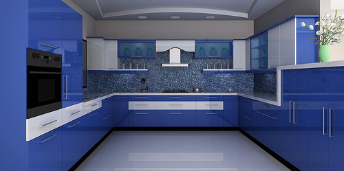 Acrylic Finish Kitchen Modular Kitchen In Mumbai Maharashtra Wellart Projects