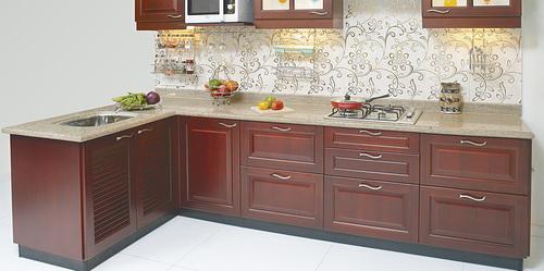 Pu coating finish modular kitchen in mumbai maharashtra for Kitchen ideas thane maharashtra