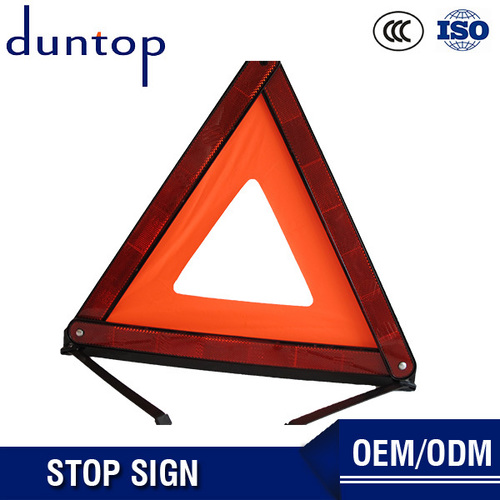 Orange Plastic Road Safety Triangle Warning Stops Sign