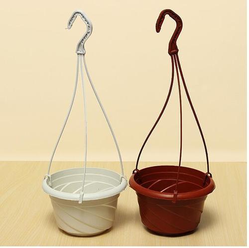 Plastic Hanging Pot with Plastic Hanger