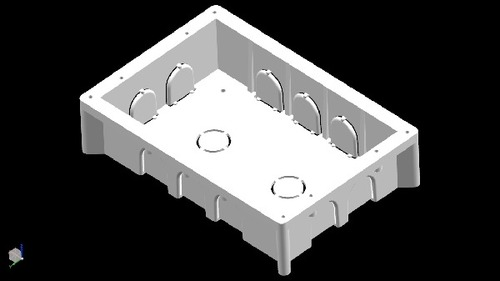 White Heavy Moduler Conceal Box,Juction Box,Fan Box.