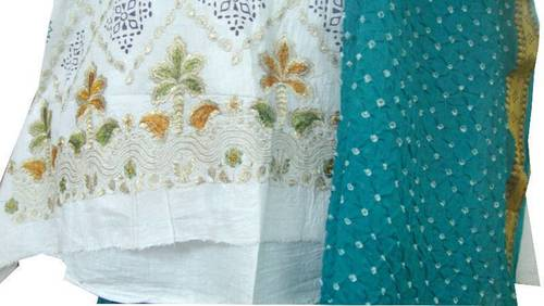 Traditional Bandhej Dress Fabrics in  Sarangpur