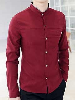 Full Sleeve Red Casual Shirts in   Race Course