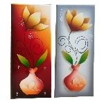 Flower Vase Painted Key Holder