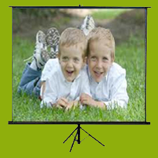 Tripod Projection Screen