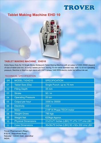 Air Freshner Tablets Machine