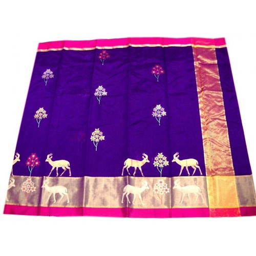 Pure Pattu Designer Silk Chanderi Saree