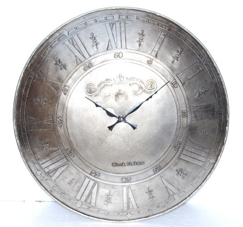Attractive Antique Silver Wall Clock In Basni Phase Ii