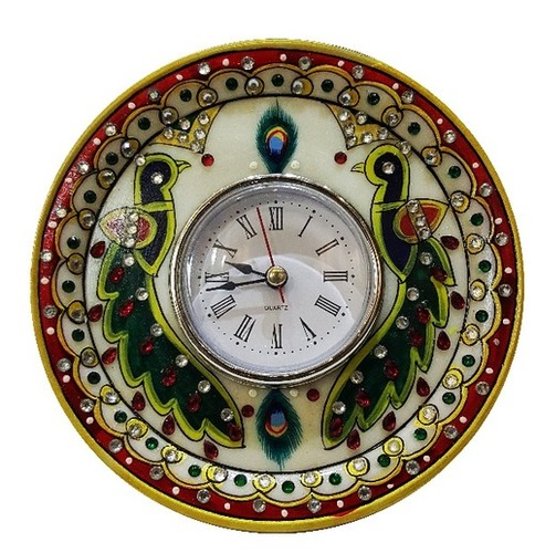 Handcrafted Marble Clock