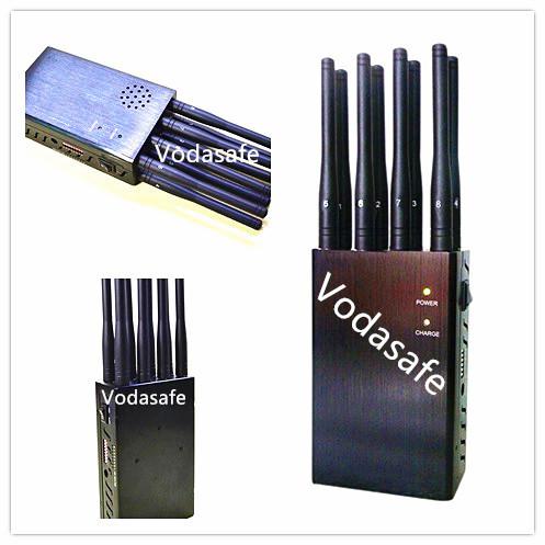 8 Bands Cell Jammer - 6 Antenna Cell phone 3G LOJACK & RF Jammer (GSM,CDMA,DCS,PCS,3G,LOJACK,RF315MHz/433MHz)