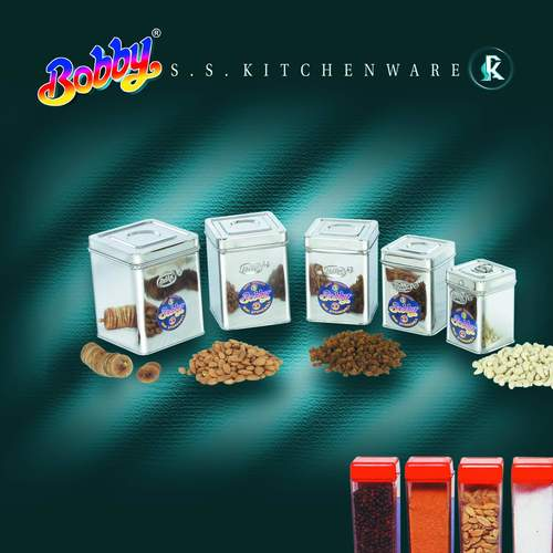 Stainless Steel Square Dabba 1