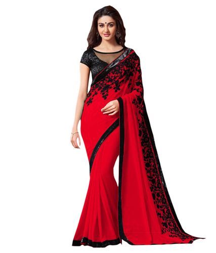 Plain Party Wear Saree in   Puna Kumbariya Road