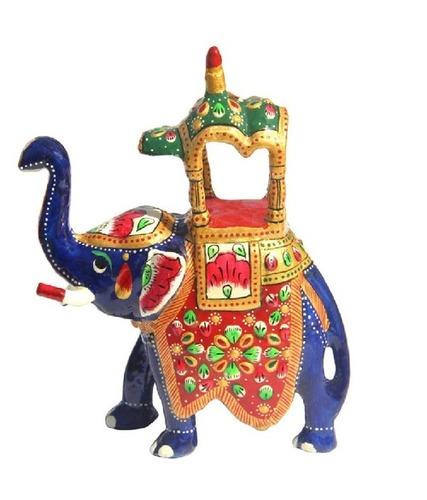 Handcrafted Metal Ambari Elephant