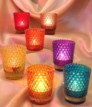 Dotted Color Candle Votive in  Mayur Vihar - I