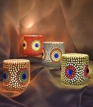 Mosaic Candle Votive in  Mayur Vihar - I