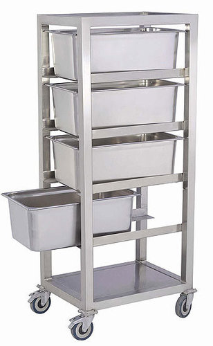 Stainless Steel Food Collection Trolley