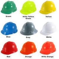 Multicolor Industrial Helmets