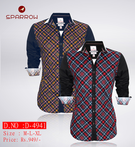 Mens Designer Printed Shirt D-4941