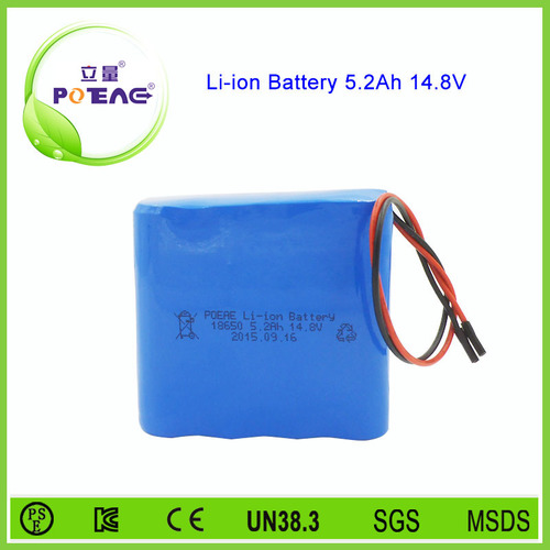 OEM Service 14.8V 18650 Lithium-Ion Battery Pack With 5200Mah