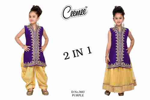 2 In 1 Girls Party Dress
