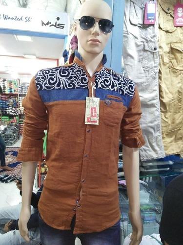 Jute Velvet Print Mens Shirt