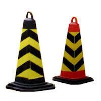 Hexagonal Base Cone Sign Boards