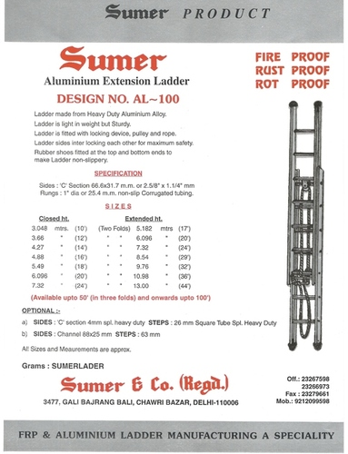 Aluminium Extension Ladders in  Chawri Bazar