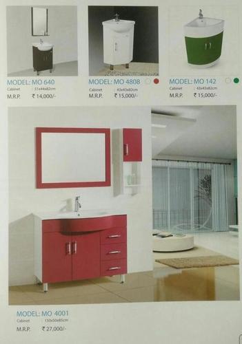 colourful wash basin with cabinet premium - Bathroom Cabinets Kolkata