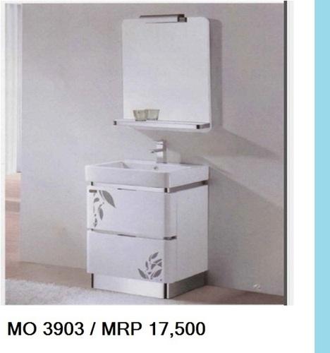 mo 3903 white ceramic designer wash basin cum cabinet