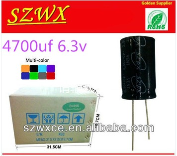 6.3V 4700UF Aluminum Electrolytic Capacitor in   Baoan District