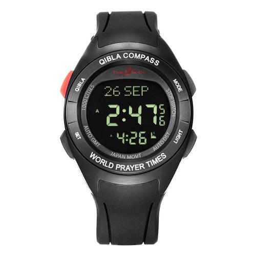 Muslim Azan Compass Prayer Alarm Wrist Watch
