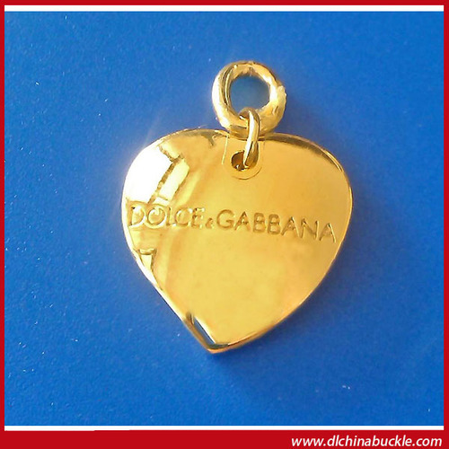 Zinc Alloy Metal Heart Shaped Pendant For Handbag And Shoes in   Guangyan W road