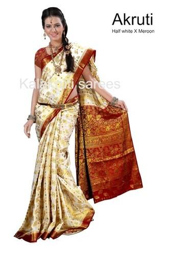 Kanchipuram Art Silk Contrast Sarees